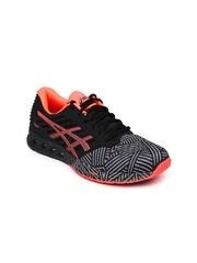 ASICS Women Black FuzeX Running Shoes