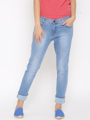 United Colors of Benetton Women Blue Skinny Fit Mid-Rise Clean Look Jeans