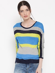 United Colors of Benetton Women Multicoloured Striped Sweater