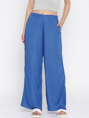 Fusion Beats Women Blue Palazzo Trousers