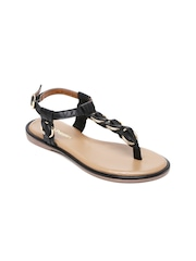 Hush Puppies Women Black Solid Sandals