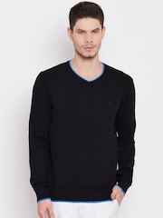 United Colors of Benetton Men Black Solid Sweater
