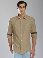 Tommy Hilfiger Men Beige Regular Fit Casual Shirt