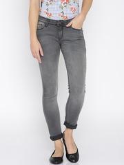 Jealous 21 Women Charcoal Grey Super Skinny Jeans