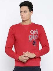 FILA Red Printed Sweatshirt