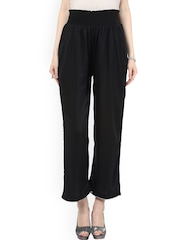 Mamacouture Women Black Solid Comfort Fit Palazzos