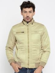 Fort Collins Beige Padded Hooded Jacket