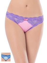 PrettySecrets Women Pack of 2 Lace Bikini Briefs PS0916LACYVST2