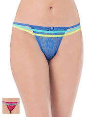 PrettySecrets Women Pack of 2 Lace Thongs PS0916CNELTHG2-01