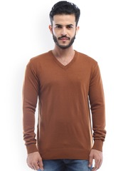 Allen Solly Men Brown Solid Sweater