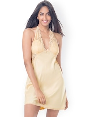 PrettySecrets Beige Nightdress with Lace Detail PS0916HLTRSCS01