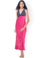 PrettySecrets Pink Maxi Nightdress with Lace Detail PS0916LCSTSCL01