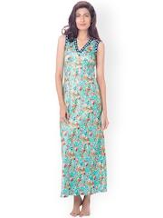 PrettySecrets Blue Floral Print Maxi Nightdress PS0916SLAPSCL01