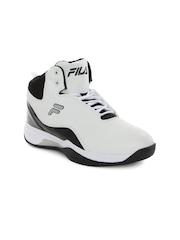 FILA Men White & Black Montana Plus Basketball Shoes