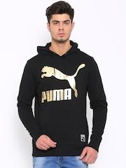 Puma Men Black Printed Pullover Sweatshirt