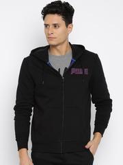 PUMA Black Hooded Sweatshirt