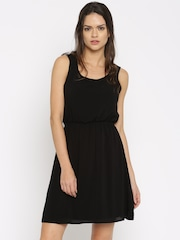 ONLY Women Black Solid Fit and Flare Dress