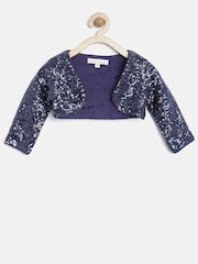Nauti Nati Girls Navy Sequinned Shrug
