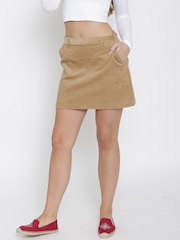 FOREVER 21 Brown Corduroy A-Line Mini Skirt