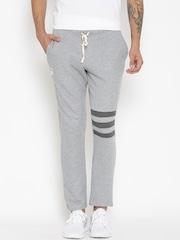 Hubberholme Grey Melange Structured Fit Track Pants