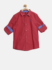 United Colors of Benetton Boys Red Solid Shirt