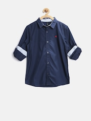 United Colors of Benetton Boys Navy Shirt