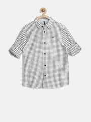 United Colors of Benetton Boys White Checked Shirt