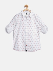 United Colors of Benetton Boys White Printed Shirt