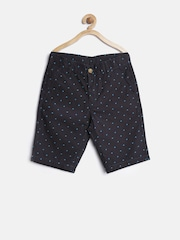 United Colors of Benetton Boys Black Printed Shorts