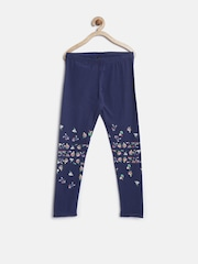 United Colors of Benetton Girls Navy Floral Print Leggings