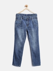 United Colors of Benetton Boys Blue Mid-Rise Washed Jeans
