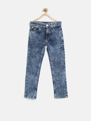 United Colors of Benetton Boys Blue Skinny Fit Mid Rise Clean Look Jeans