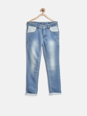 United Colors of Benetton Boys Blue Regular Fit Mid Rise Clean Look Jeans