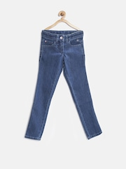United Colors of Benetton Girls Blue Regular Fit Mid Rise Jeans