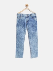 United Colors of Benetton Girls Blue Mid-Rise Clean Look Jeans