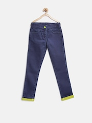 United Colors of Benetton Girls Navy Mid-Rise Clean Look Jeans
