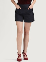 COVER STORY Women Navy Regular Fit Shorts