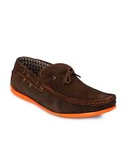 Prolific Men Brown Solid Regular Boat Shoes