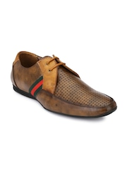 Prolific Men Brown Perforated Derbys