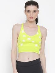 Reebok Women Lime Green LTHS Y Patterned Yoga Crop Top
