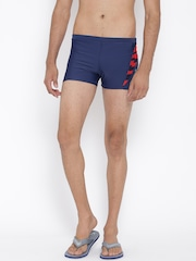 Reebok Men Navy Panel Printed Swim Shorts