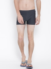 Reebok Men Charcoal Grey MS Printed Swim Shorts