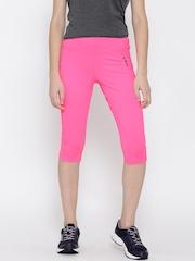 Reebok Neon Pink WOR PP Training Capris