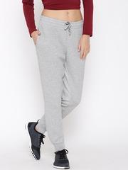 Reebok Grey Melange EL Quilted Slim Training Track Pants