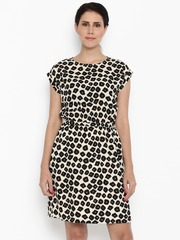 Van Heusen Woman Women Beige Printed A-line Dress