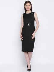 Van Heusen Woman Women Black Solid Sheath Dress
