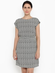 Van Heusen Woman Women Black Printed Blouson Dress
