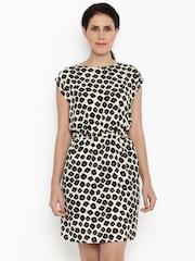 Van Heusen Woman Women Beige Printed Blouson Dress