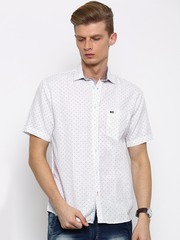 Arrow Sport Men White Regular Fit Printed Casual Shirt