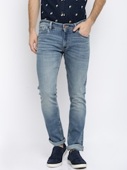 Arrow Blue Jean Co. Men Blue Washed Slim Fit Mid-Rise Clean Look Jeans